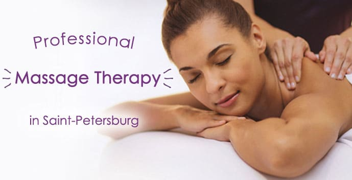 Professional massage therapy in Saint-Petersburg